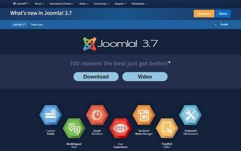 Joomla! 3.7 - Discover the new features added to the CMS Joomla!