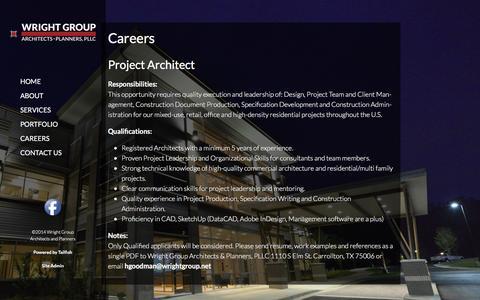 Screenshot of Jobs Page wrightgroup.net - Careers - captured Feb. 26, 2016