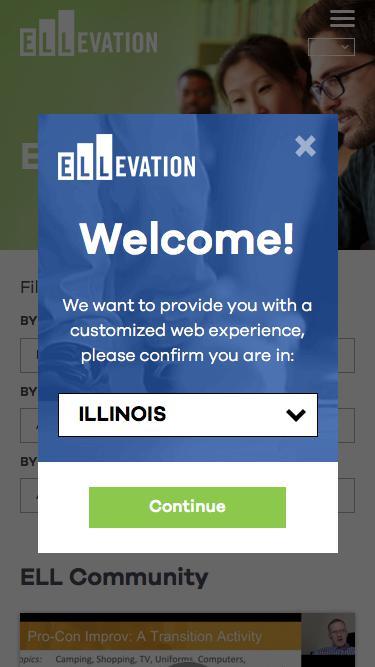 Screenshot of Team Page  ellevationeducation.com - ELL Community | Ellevation Education