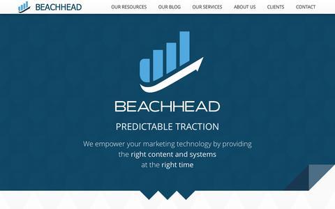 Screenshot of About Page Contact Page beachhead.io - Beachhead.io: Advanced Demand Gen - captured Oct. 29, 2014