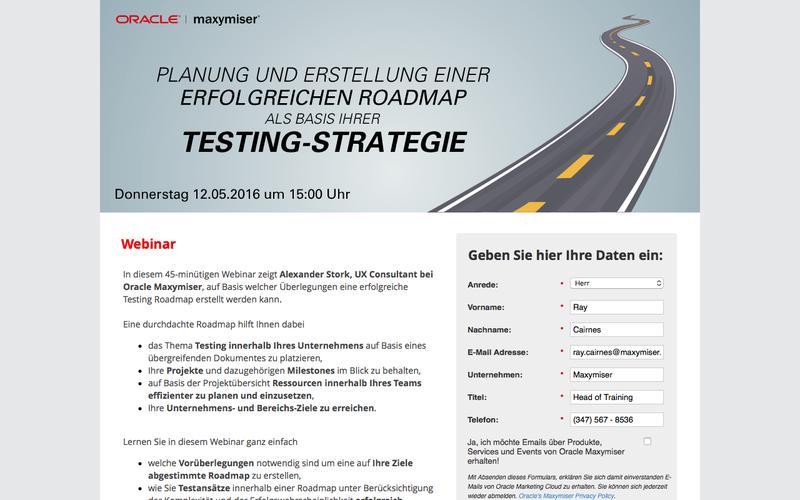 Webinar: Planung und Erstellung einer erfolgreichen Roadmap als Basis Ihrer Testing-Strategie