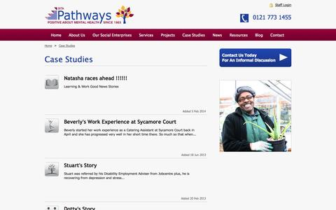 Screenshot of Case Studies Page bitapathways.co.uk - Case Studies | BITA Pathways - captured Oct. 26, 2014