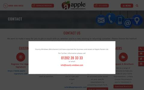 Screenshot of Contact Page applehomeimprovements.co.uk - Contact Us | Apple Home Improvements - captured March 6, 2019