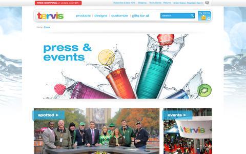 Screenshot of Press Page tervis.com - Press - captured Sept. 19, 2014
