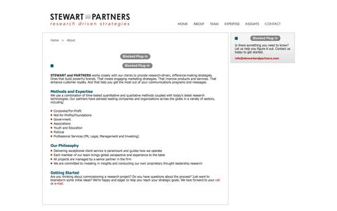 Screenshot of About Page stewartandpartners.com - Stewart and Partners - About Us - captured Nov. 18, 2016