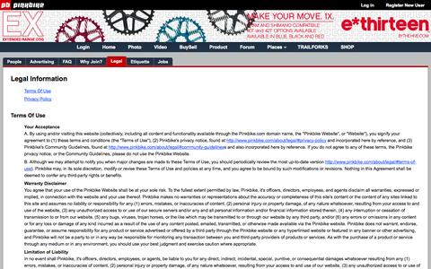 Screenshot of Privacy Page pinkbike.com - Privacy Policy/Terms of Use - Pinkbike - captured Oct. 29, 2014