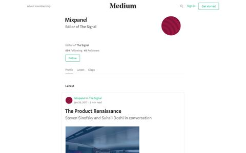 Mixpanel – Medium