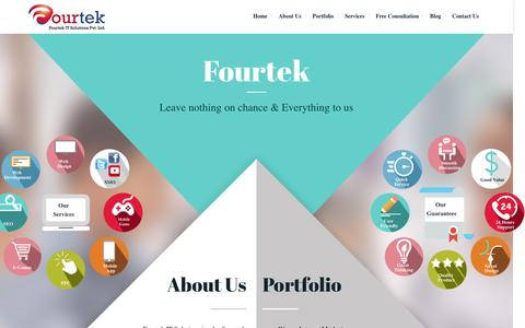 Screenshot of Home Page fourtek.com - Digital Marketing Agency in India, Internet Marketing Company in India, Delhi, Noida - Fourtek - captured Aug. 5, 2016