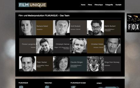 Screenshot of Team Page filmunique.de - Film- und Medienproduktion FILMUNIQUE - Das Team | FILMUNIQUE Filmproduktion und Medienproduktion, München - captured Oct. 5, 2014