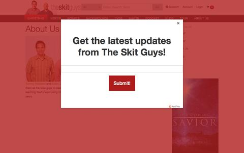 Screenshot of About Page skitguys.com - About Us « The Skit Guys - captured Oct. 1, 2015
