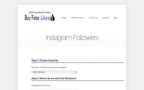 Instagram Followers | Buy Fake Facebook Likes