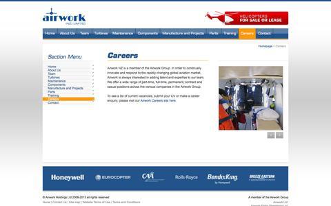 Screenshot of Jobs Page airwork.co.nz - Airwork (NZ) Ltd - Careers with Airwork - captured Oct. 4, 2014