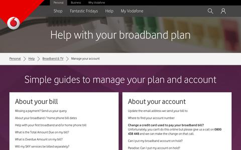 Manage your Vodafone Broadband and Home phone account online - Vodafone NZ