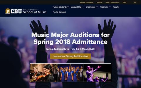 Home - The Collinsworth School of Music