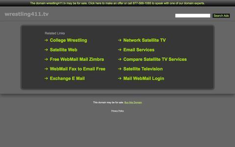 Screenshot of Home Page wrestling411.tv - Wrestling411.tv - captured Oct. 16, 2015