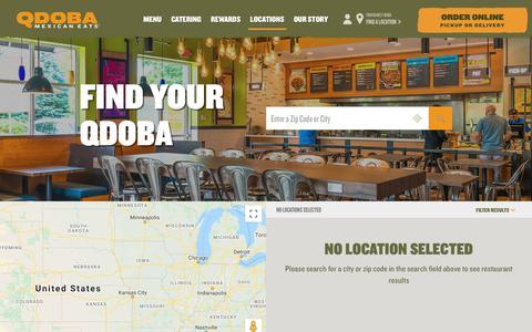 Screenshot of Locations Page qdoba.com - QDOBA Mexican Eats | Mexican Restaurants & Catering - captured Jan. 14, 2020