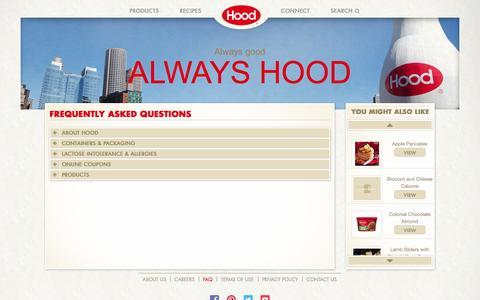 Screenshot of FAQ Page hood.com - Hood® | FAQs - captured Oct. 31, 2014