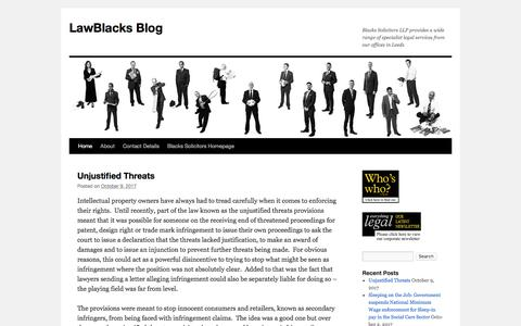 Screenshot of Blog wordpress.com - LawBlacks Blog | Blacks Solicitors LLP provides a wide range of specialist legal services from our offices in Leeds - captured Oct. 10, 2017