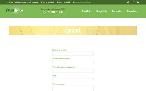Screenshot of Contact Page proxidelice.fr - Contact | proxidelice - captured July 24, 2018