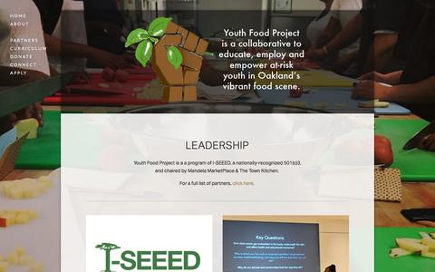 Screenshot of Team Page youthfoodproject.org - Leadership — Youth Food Project - captured Sept. 21, 2018