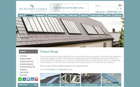 Screenshot of Products Page therooflightcompany.co.uk - The Rooflight Company: Skylight and Rooflight Product Range - captured Sept. 30, 2014