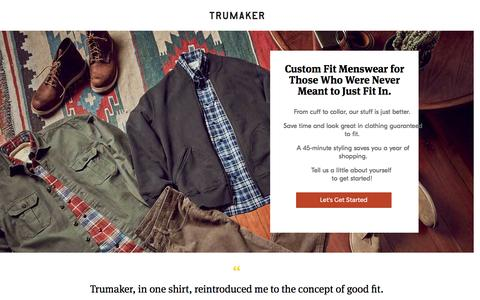 Screenshot of Landing Page trumaker.com captured May 15, 2017