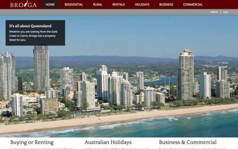 Screenshot of Home Page brolga.com.au - Brolga - Real Estate For Queensland - captured Oct. 11, 2017