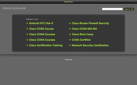 Screenshot of Home Page cisco-ccna.me - Cisco-Ccna.me - captured March 16, 2016