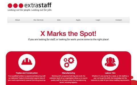 Screenshot of Home Page extrastaff.co.nz - Extrastaff NZ - Extrastaff - captured Feb. 1, 2016