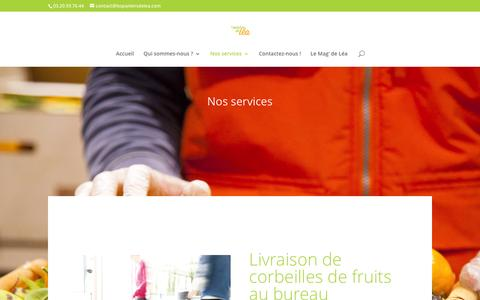Screenshot of Services Page lespaniersdelea.com - Nos services - Les Paniers de Léa - captured Jan. 28, 2016