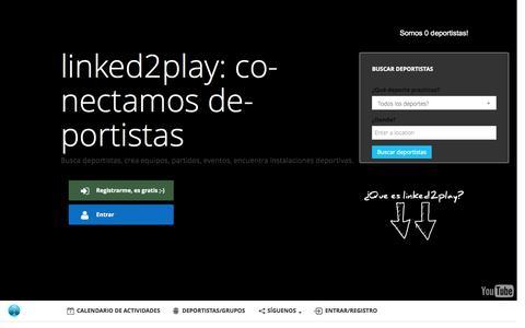 Screenshot of Home Page linked2play.com - Deporte en grupo en tu ciudad - Linked2play - captured Sept. 16, 2015