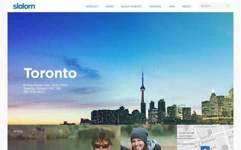 Toronto | Slalom