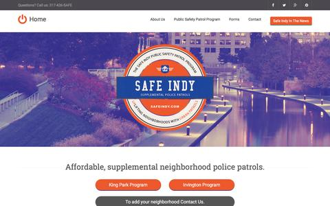 Screenshot of Home Page safeindy.com - Safe Indy - captured Feb. 2, 2016