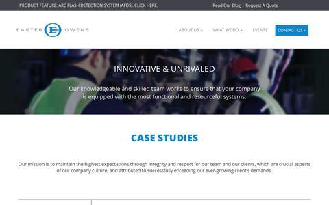 Screenshot of Case Studies Page easter-owens.com - Easter-Owens   Case Studies - captured Oct. 20, 2016