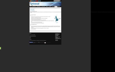 Screenshot of Maps & Directions Page universalconvertingequipment.com - Directions/ Map » Universal Converting Equipment - captured Oct. 7, 2014