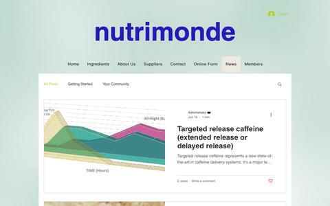 Screenshot of Press Page nutrimonde.com.au - Nutrimonde Pty Ltd - functional ingredient experts - captured Oct. 18, 2018