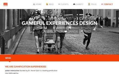 Screenshot of Home Page juloot.com - juloot interactive gamification - captured Jan. 9, 2016