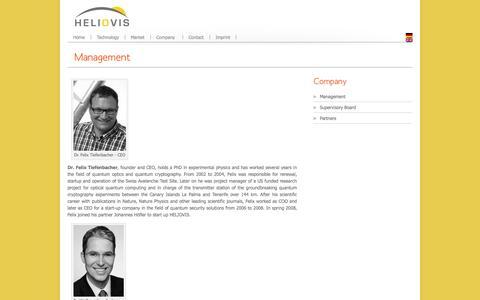 Screenshot of Team Page heliovis.com - Management | HELIOVIS AG - captured Oct. 1, 2014