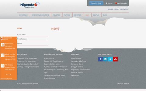 Screenshot of Press Page nipendo.com - News - captured Sept. 16, 2014