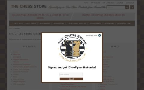 Screenshot of Site Map Page thechessstore.com - Sitemap - captured Sept. 23, 2018