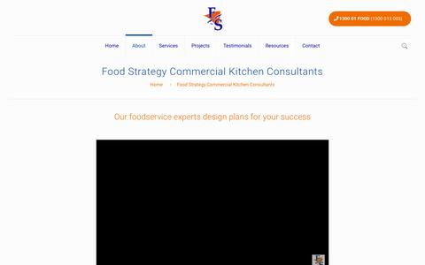 Screenshot of About Page foodstrategy.com.au - Commercial Kitchen Consultants | About | Food Strategy Australia - captured Aug. 9, 2018