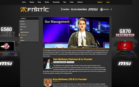Screenshot of Team Page fnatic.com - FNATIC.com - captured Sept. 23, 2014