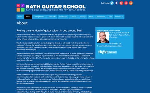 Screenshot of About Page bathguitarschool.com - About | Bath Guitar School - captured Sept. 30, 2014