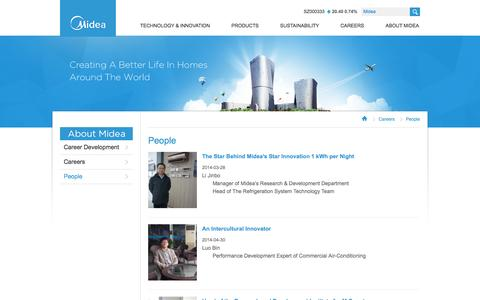 Screenshot of Team Page midea.com - Welcome to Midea Global - captured Sept. 23, 2014