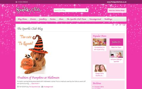 Screenshot of Blog thesparkleclub.co.uk - The Sparkle Club Blog - Home of girls party shoes and more - captured Dec. 26, 2016