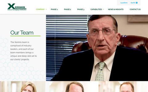 Screenshot of Team Page xerimis.com - Our Team - Xerimis Inc. - captured Oct. 19, 2018