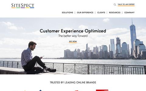 A/B Testing | Multivariate Testing | CX Experience Optimization | SiteSpect