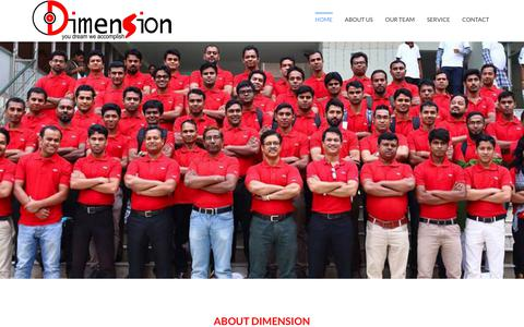 Screenshot of Home Page dimensionbd.com - Dimension - You dream we accomplish - captured Aug. 5, 2018