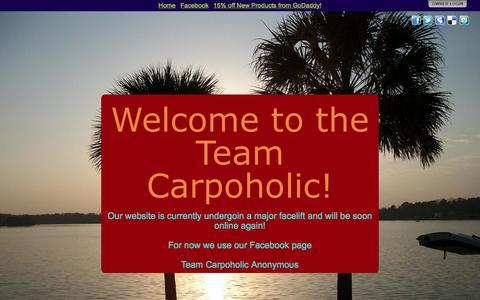 Screenshot of Home Page carpoholic.com - Welcome to the Team Carpoholic! - captured Sept. 30, 2014