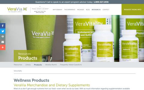 Screenshot of Products Page veraviafit.com - Healthy Weight Loss Products, Supplements and Vitamins | VeraVia - captured Sept. 22, 2018
